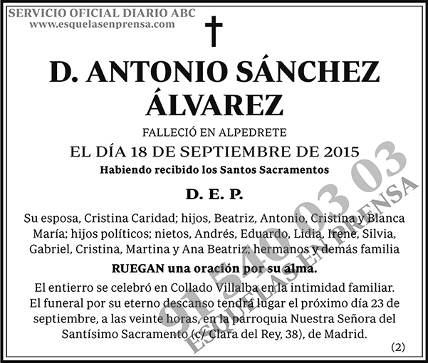 Antonio Sánchez Álvarez